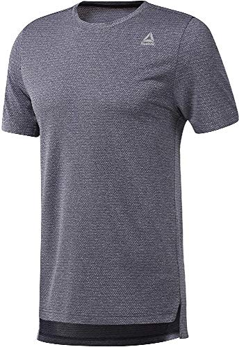 Reebok Wor Melange Tech Top-Reg Camiseta, Hombre, hernvy, 2XL