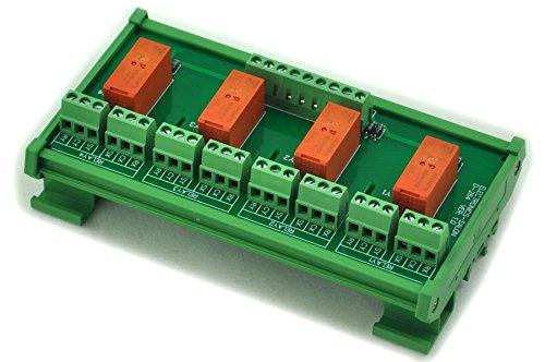 ELECTRONICS-SALON DIN montaje en riel de matemáticas pasivas / óxido 4 DPDT 8 LED de módulo de relé, 24 V ver.