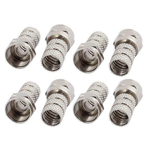 Aexit 8 Stücke F Typ Männlich Gerade RF Coax TV Adapter Anschlüsse Silber Ton (7c5651e1e24020d8010375652ab469ba)