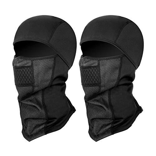 SEVENS Balaclava Ski Mask, Thermal Full Face Mask for Winter Sports Skiing, Snowboarding, Motorcycling, Windproof Ski Hood (Black)