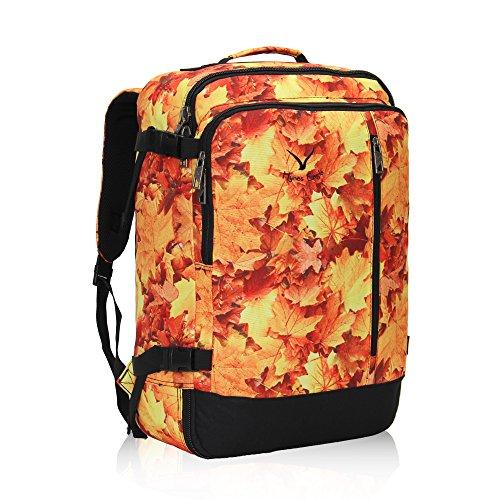 Hynes Eagle 38L Flight Approved Weekender Carry on Backpack Maple Leaf