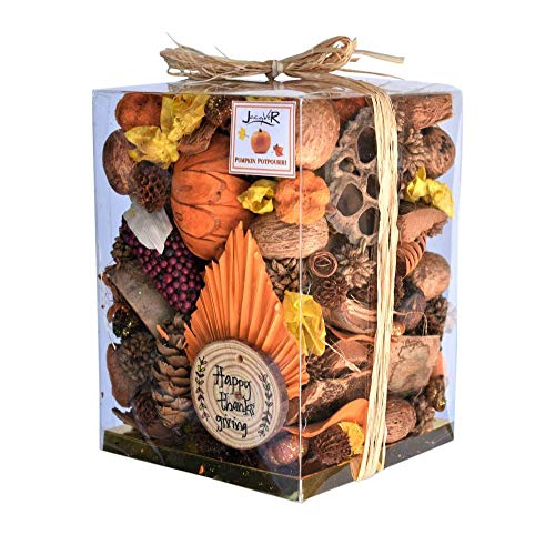Jacqver Autumn Pumpkin Potpourri - Beautiful 12 oz Box of Pumpkin Spice Botanical Potpourri -Looks Great in Any Decorative Bowl.Made in USA  Mother-Daughter Handcrafted with All Our Love.