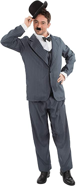 1920s Men's Costumes: Gatsby, Gangster, Peaky Blinders, Mobster, Mafia Orion Costumes Mens Stan Laurel Oliver Hardy Movie Film Fancy Dress Costume  AT vintagedancer.com