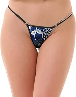 Lola Dola Women Ladies Girls Polyamide G-String Panty Set of 1 (Multicolored, Free)