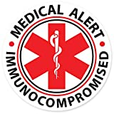 COOLHUBCAPS 1 Large Immunocompromised Medical Alert Reflective Decals