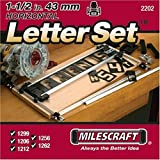 Milescraft 2202 1-1/2' Horizontal Character Template Set FOR Sign making System, Black