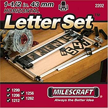 Milescraft 2202 1-1/2  Horizontal Character Template Set FOR Sign making System Black