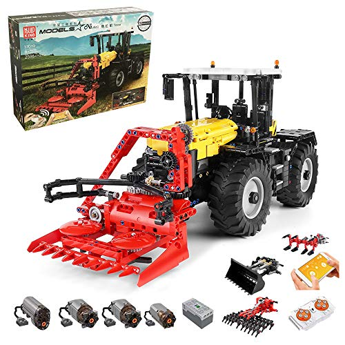 RcBrick Technik Traktor Technic Ferngesteuert Traktor, 2596 Teile Technik Traktor mit 4 Motor, Fernbedienung und App Kontroller Bauset Kompatibel mit Lego Technik