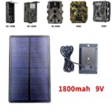 GADGETWORLD 9V 1800MAh Outdoor Solar Battery Charger for Suntek HC300 HC350 HC550 HC700 HC800 S990 S880 680 S80M