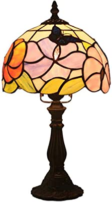 Ambre Tiffany Chevet Table Fabakira De Verre Lampe KF35ul1JcT