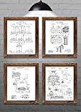 Gifts for Beer Drinkers - Vintage Beer Brewing Method Patents - Set of Four - 8x10' Prints - Perfect...