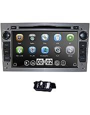 hizpo 7-inch Car-Audio Stereo Dubbele Din Dash voor Opel Corsa Vectra Astra-ondersteuning stuurwielbesturing GPS-navigatie DVD-speler Bluetooth Autoradio SD USB Free 8G-kaart (grijs)