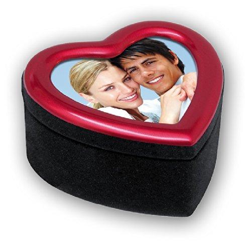 Zep S.r.l TN4 Petit Objet de Décoration Heart Box Rouge 6 x 6 cm