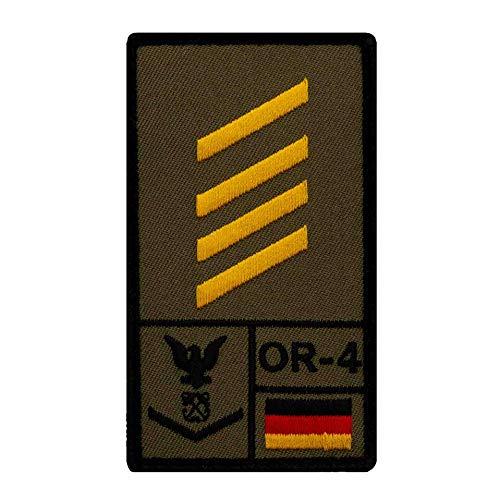 Café Viereck ® Stabsgefreiter Marine Bundeswehr Rank Patch mit Dienstgrad - Gestickt mit Klett – 9,8 cm x 5,6 cm