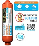 Clear2o Garden & Pet Water Hose Filter - Reduces Chlorine, Lead, Heavy Metals - Ideal for Organic Farmers - (Orange)