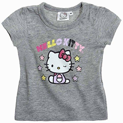 T-shirt bébé fille manches courtes Hello kitty Gris 6mois