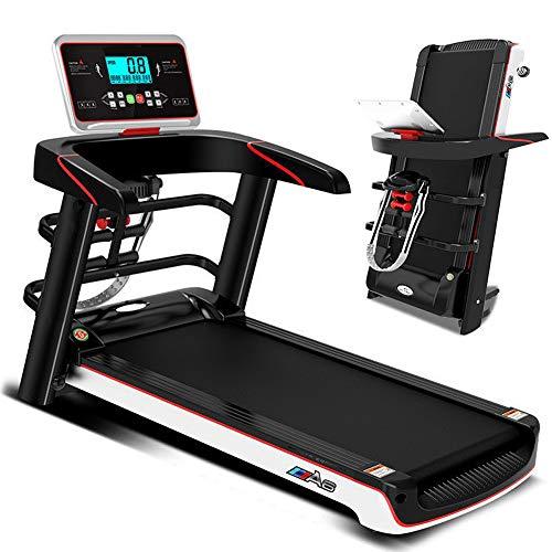 BQSWYD Caminadora Fitness, Cinta de Correr Eléctrica Plegable, 2.0HP Rueda de Andar Profesional para el Hogar/Oficina, 3 Modos de Cuenta Regresiva Incorporado y P1-P12 Programa, 1-12.8km/h, MAX 100Kg
