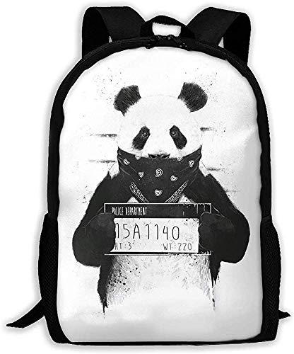 Mochila Unisex Bad Panda Mochila Unisex Bolso de Hombro Mochila Escolar Bolsas de Viaje Mochila para portátil
