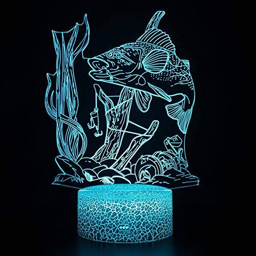 Luz de noche 3D LED Magic Light,Control remoto que cambia de color ilusión noche luz el mejor regalo creativo para niños
