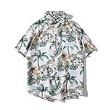 アロハシャツ ビーチシャツ メンズ ハワイ風 リゾート 半袖 ゆったり 夏 花柄シャツ サーフィン 速乾 海 プリントシャツ 開襟シャツ サマーシャツ 大きいサイズ M L XL XXL