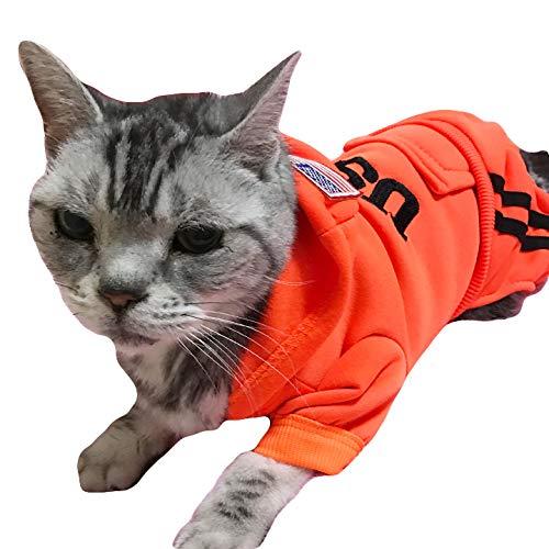 k-city(ケーシティ) 猫 服 猫服 ネコ ねこ USA 犬の服 つなぎ ロンパース オーバーオール キャットウェア XXLサイズ レッド