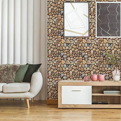 Piedra redonda grande,5 hojas,60*60CM,Adhesivos de pared,3D,Autoadhesivo,Espuma gruesa,Impermeable,Pared de sala de estar y Dormitorio y fondo,Decoración,Decoración,Arte,Bricolaje,Decoración del hogar