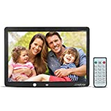 Regalo para Navidad Portafotos Digital Pantalla IPS HD Crosstour Marco Digital de Fotos y Videos Negro 8 Pulgadas 4:3 Widescreen con Control Remoto