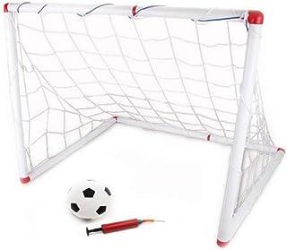 DIY الأطفال الرياضية أهداف كرة القدم مع كرة القدم الكرة ومضخة لعبة كرة القدم في الهواء الطلق لعبة رياضية