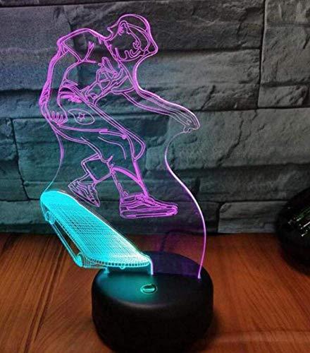 QiXian Nachtlicht Wandleuchte Led Lampe Roller Auto 3D Visuelles Licht Kreative 7 Farbe Touch Lade 3D Tischlampen Moderne Zeitgenössische Tisch Schreibtischlampe für Küche Schlafzimmer Wohnzimmer