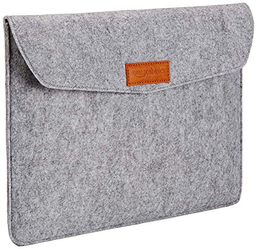AmazonBasics 13' Felt Laptop Sleeve - Light Grey