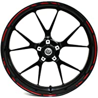 CxS Pegatinas Llantas Moto Coche Color Rojo Reflectantes Autoadhesivas Resistentes a La Lluvia
