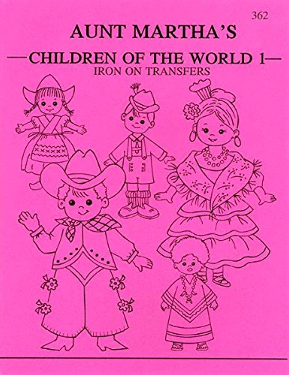 Authentique Paper Aunt Martha's TPB-362 Children of The World Iron-On Transfer Book