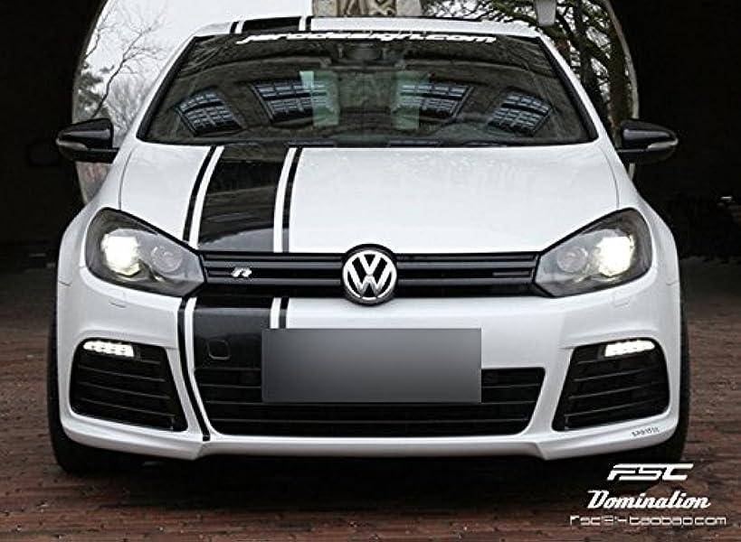 Racing Stripes Vinyl Sticker Car Hood, Truck, Trunk Decals (Black)