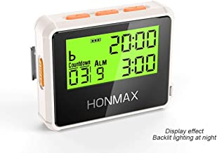 Honmax 8200 IP66 Programmable Interval Timer Stopwatch | Timers for Kitchen, HIIT, Running, Sports and Outdoor Exercise | Countdown up to 100 Hours | LED Digital Clock for Workout