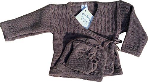 Ensemble tricotage layette bébé Léonie 0 mois taupe
