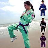 Sunrise Ladies Brazilian Jiu Jitsu Suit Female BJJ Gi Kimonos Women BJJ Uniform … (BJJ13 Green, F0)