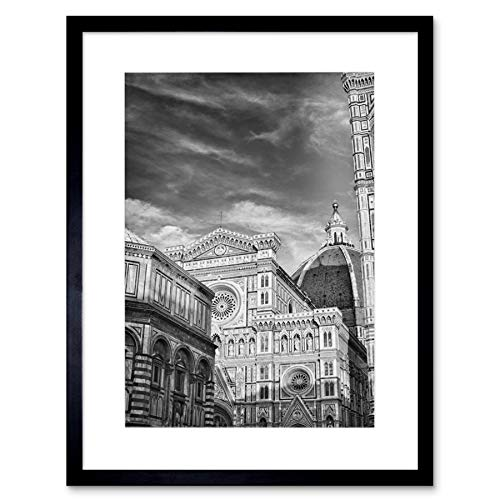 Photo Architecture Florence Duomo Cathedral Black White Italy Art Print B12X8159