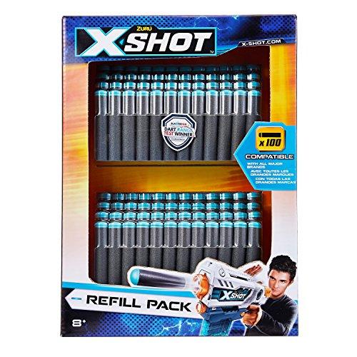 ZURU X-shot 5639 100 Dart Refill Pack Toy, Multicolour
