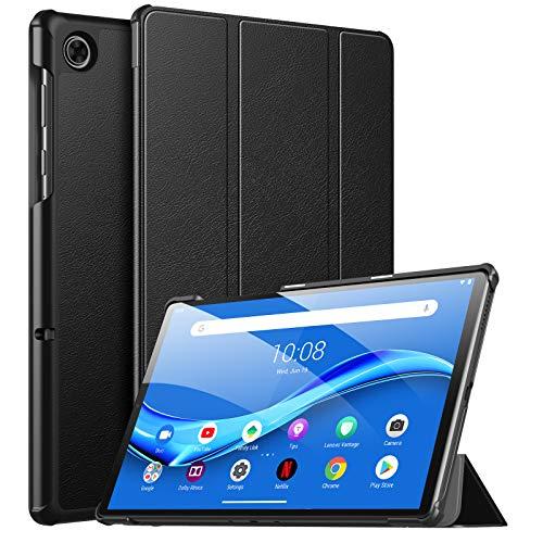 MoKo Funda Compatible con Lenovo Tab M10 Plus 606F Tableta, Ultra Slim Ligera Función de Soporte Protectora Plegable Smart Cover Cubierta Durable Auto Sueño/Estela - Negro
