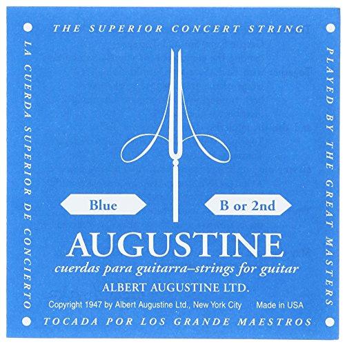 Augustine 650432 Blue Label Corde Seule SI (B2) pour Guitare Classique Tirant Fort