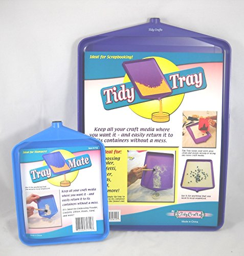 Tidy Crafts Tidy Tray Combo, 6 by 8-Inch and 10 by 14-Inch, 2-Pack