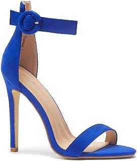 Herstyle Charming Women's Open Toe Ankle Strap Stiletto Heel Dress Sandals Elegant Wedding Party Shoes