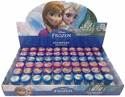 12 Pieces Disney Frozen Anna Elsa Olaf Stampers Self-Inking Birthday Party Favors by Ratpaneete