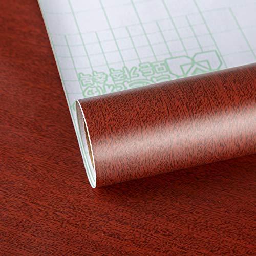 TOTIO Papel pintado de madera de cerezo con grano de madera de contacto, adhesivo decorativo para muebles, autoadhesivo, papel de vinilo, vinilo