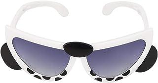 GOTOTOP - Gafas de sol plegables para niños, patrón de animales de dibujos animados para bebés portátiles Gafas de verano Fotografía Prop Regalo de juguete para niños Niñas 3-7 años(White Panda)