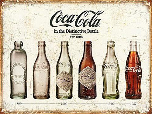 WallAdorn Evolución de la Botella Cartel de Hierro Pintura Cartel de Chapa Vintage decoración de Pared para Cafe Bar Pub Inicio Cerveza Decoración Artesanía