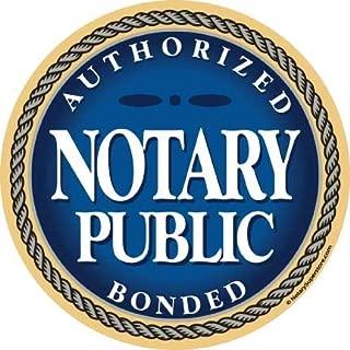 Authorized & Bonded Notary Public Sticker, 6-inch Diameter