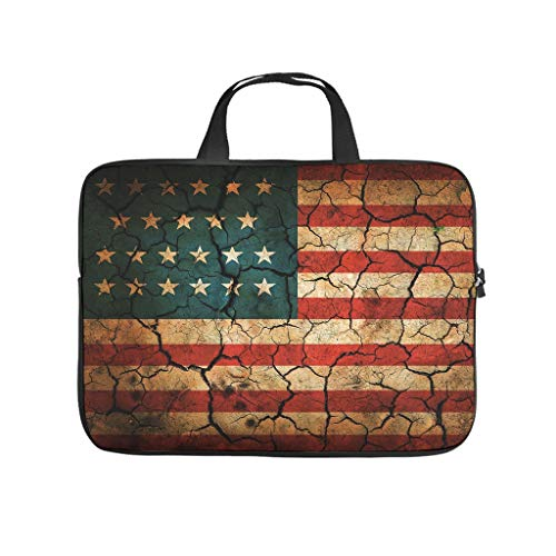 American Flag Laptop Slim High Capacity Zipper Multi-Color 10-17 Inch for Boys Girls White 13 Zoll