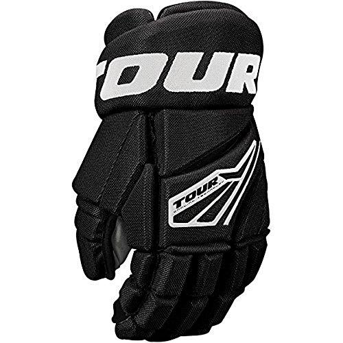 Tour Hockey Code 3 Inline Hockey Gloves Size: 14 Inch Black/White