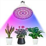 Plant Lights Lámparas de crecimiento Bombilla de espectro completo LED Grow Light Crecimiento de plantas, Lámpara E27 con creciente Azul claro Rojo para sistema hidropónico de jardinería interior, 29